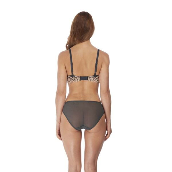 embrace lace ebony & shifting sand brief rear