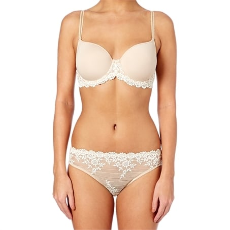 Embrace Lace Contour Underwired Moulded Bra - Nude/Ivory