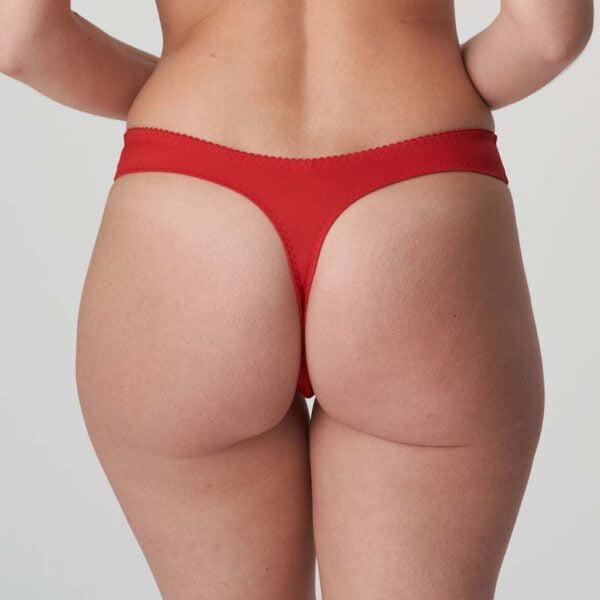 madison thong scarlet rear