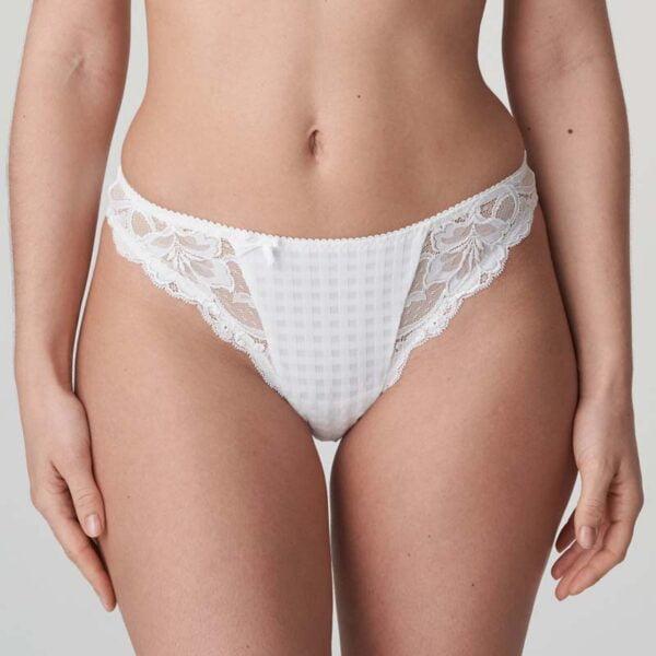 madison thong white