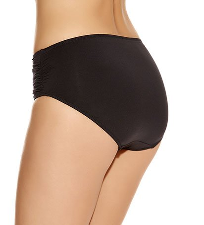 Versailles Deep Gathered Brief with Control Lining - black - FS5752