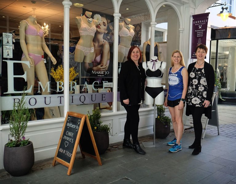 Karen's Marathon Effort is Well Supported by Embrace!