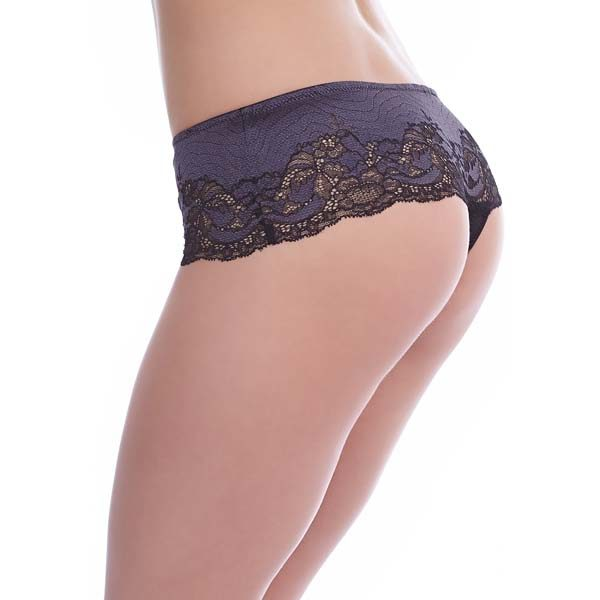 Lace Affair - graphite - tanga