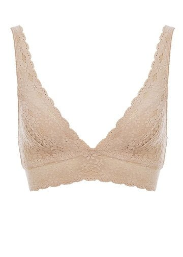 Halo Lace Soft Cup Bra by Wacoal Nude