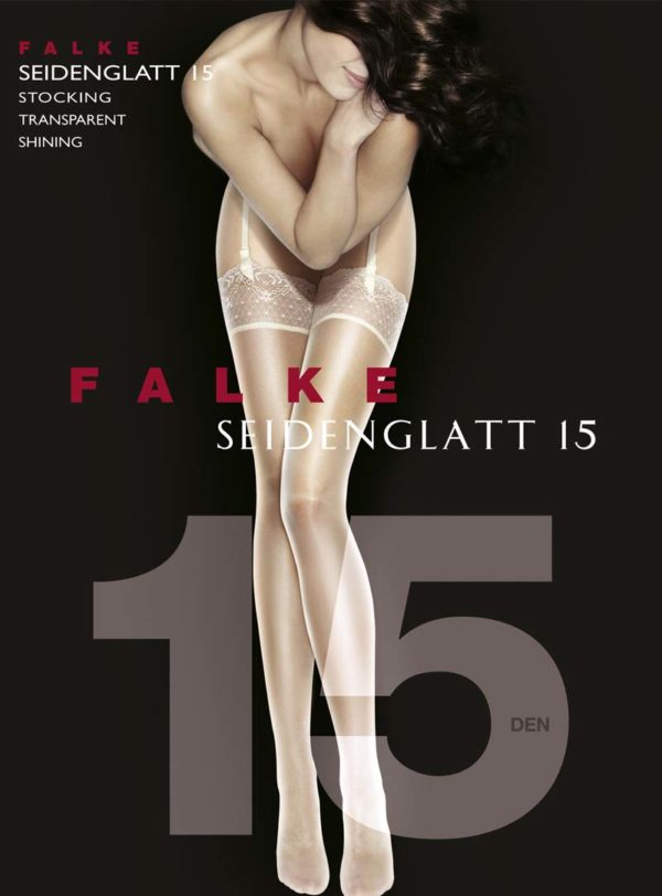 Seidenglatt 15 Shine Stocking by Falke