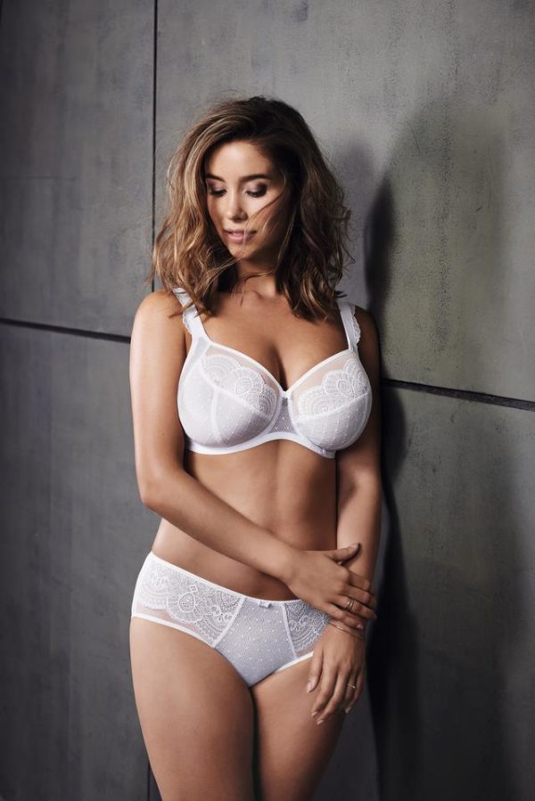 Rosa Faia - Selma - White - Larger Cup Bra and High Waist Brief