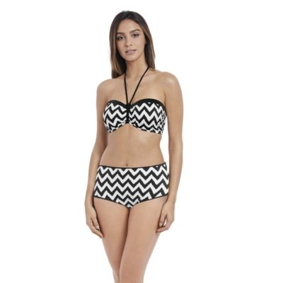 Making Waves Non Padded Bandeau Bikini Top by Freya Swim