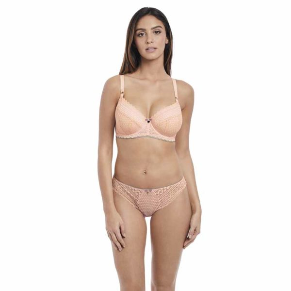 Daisy Lace Underwired Padded Half Cup Bra by Freya