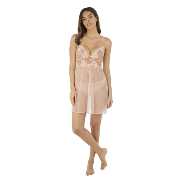 Lace Perfection Cafe Creme Chemise