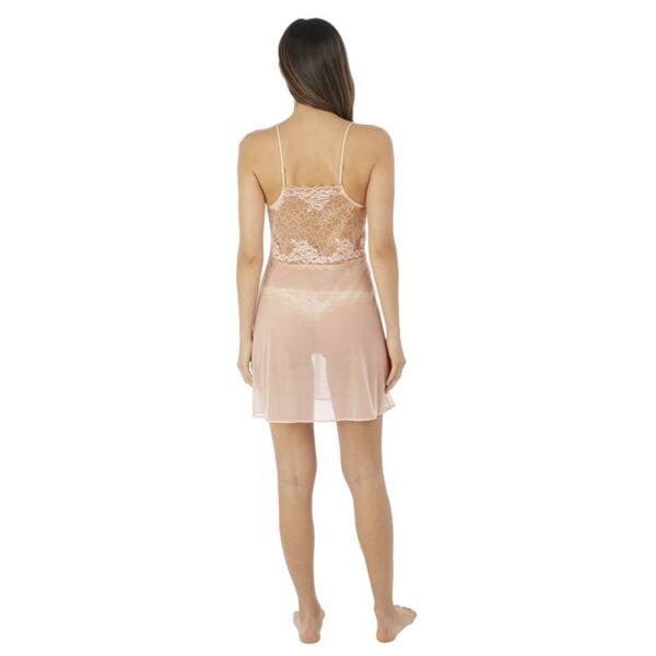 Lace Perfection Cafe Creme Chemise Rear