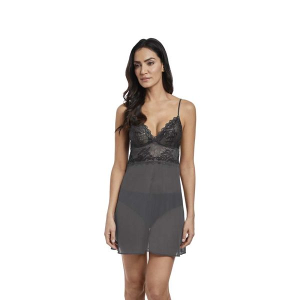 Lace Perfection - Chemise - charcoal