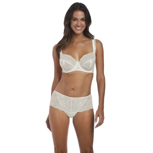 Bronte - UW side support plunge bra - ivory