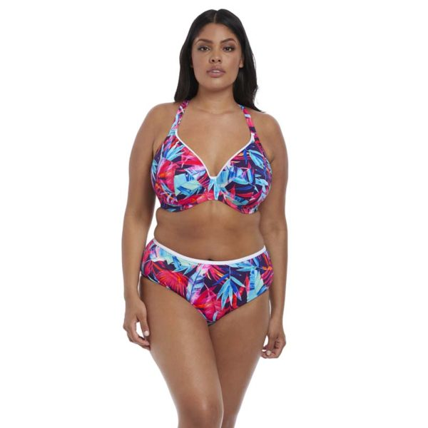 Paradise Palm Underwired Plunge Bikini Top by Elomi Swim