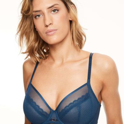 Parisian Allure Four Part Bra Blue by Chantelle