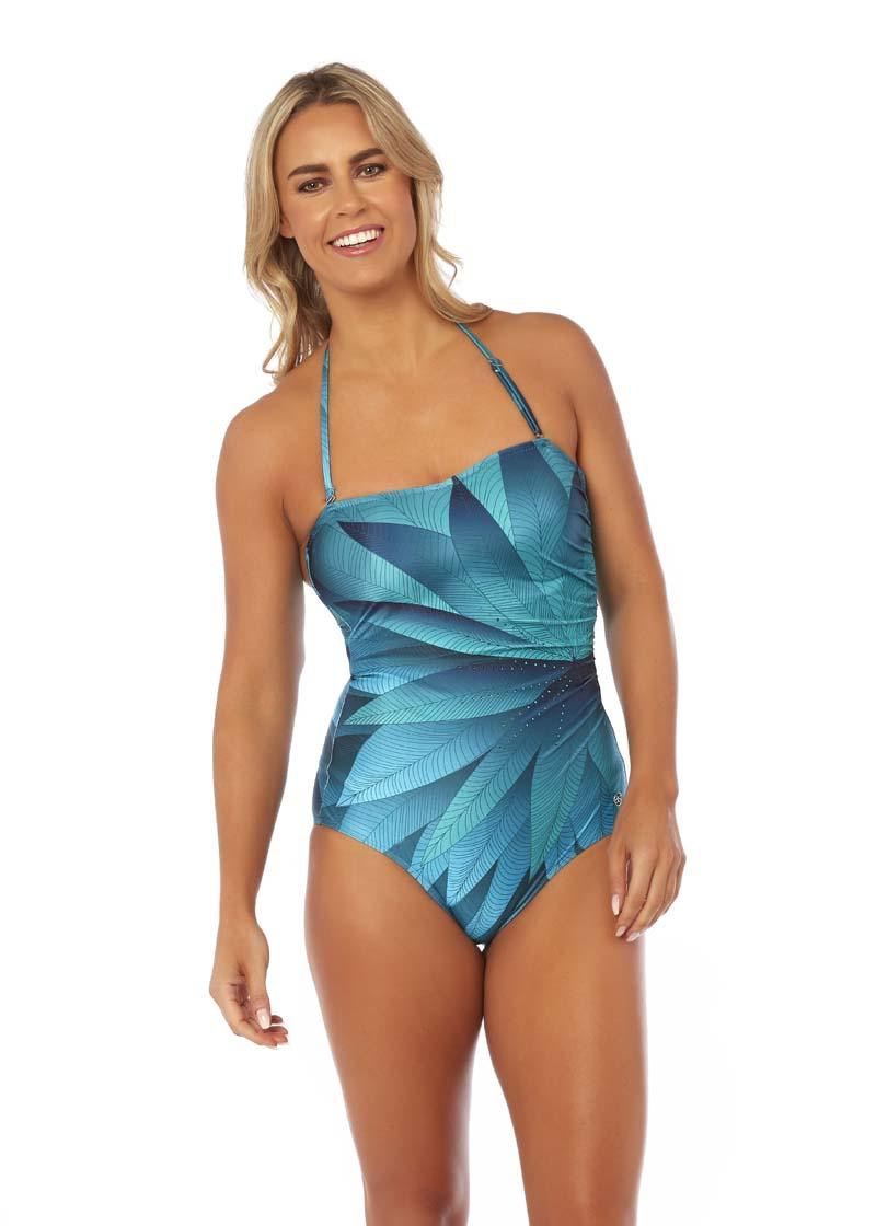 4ba3ff3e0a Oneta Side Gather Bandeau Swimsuit by Seaspray - Embrace