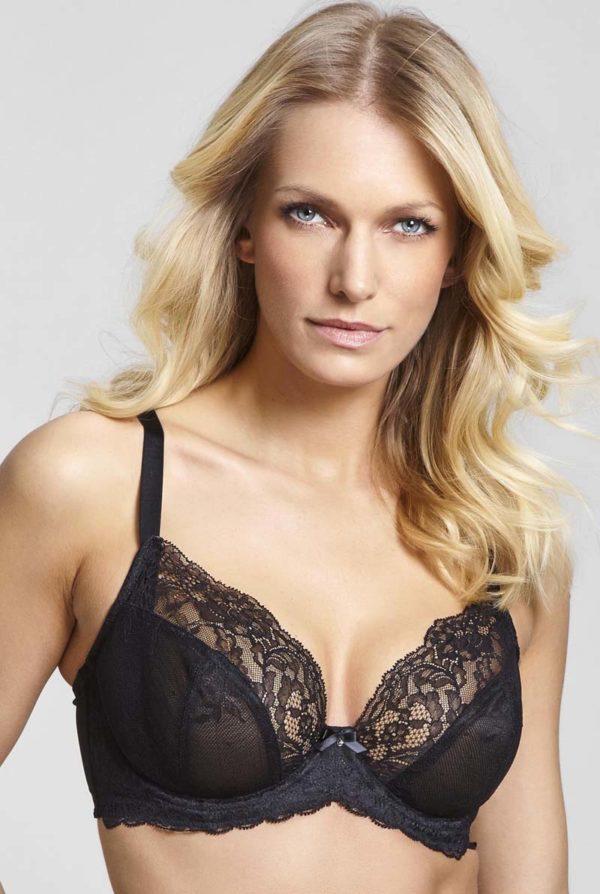 Ana - black - plunge bra