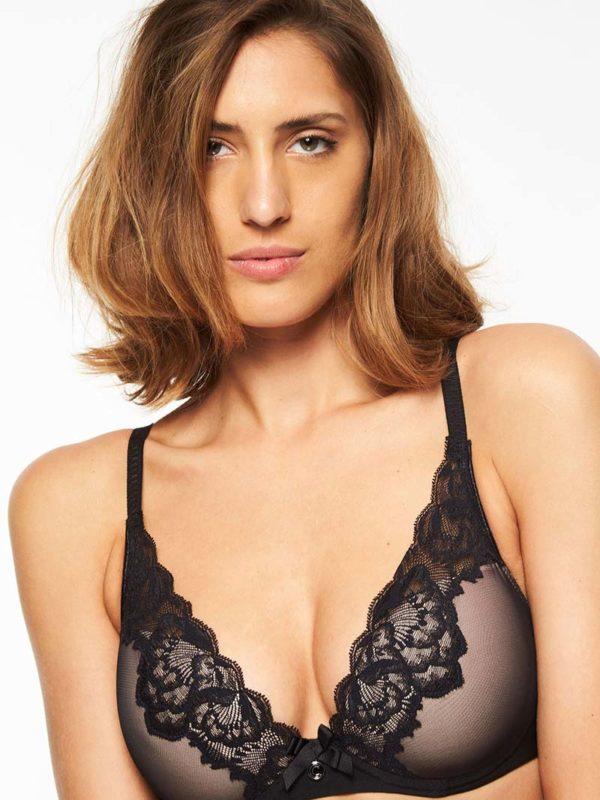 Orangerie - black - Plunge Tshirt bra