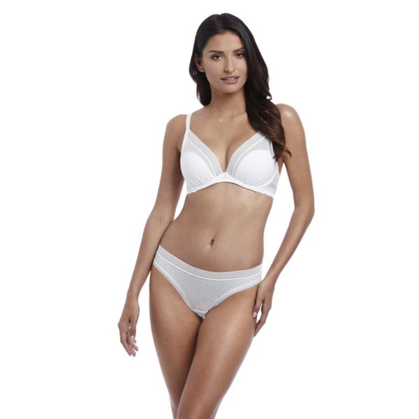 Aphrodite - white - plunge bra