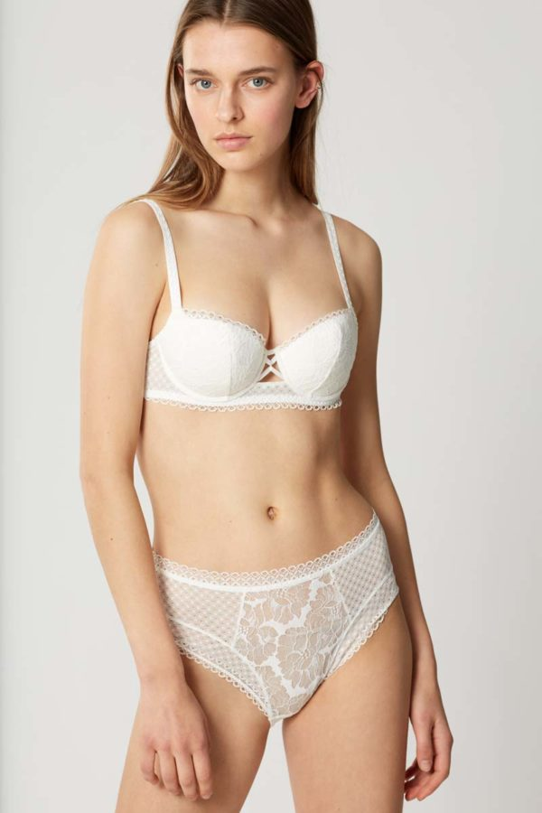 Dot Flowers - Lily - Padded Demi Cup and Full Brief