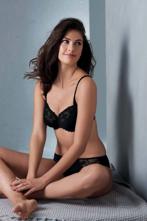 Grazia uw bra and brief - black