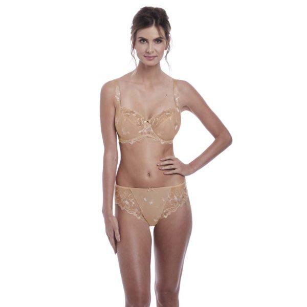 Leona - Balcony bra and brief - Nat beige