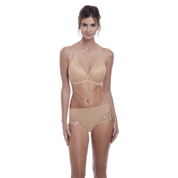 Leona - spacer bra and full brief - Nat beige