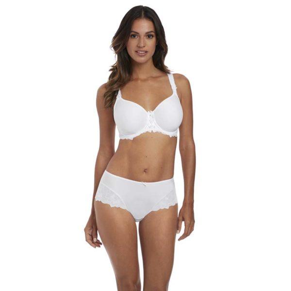 Leona - spacer bra and full brief - white