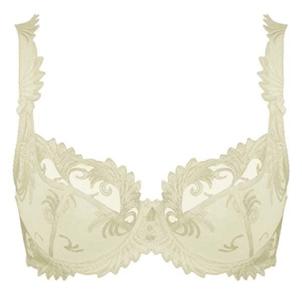 Thalia - Ivory - uw low neck bra