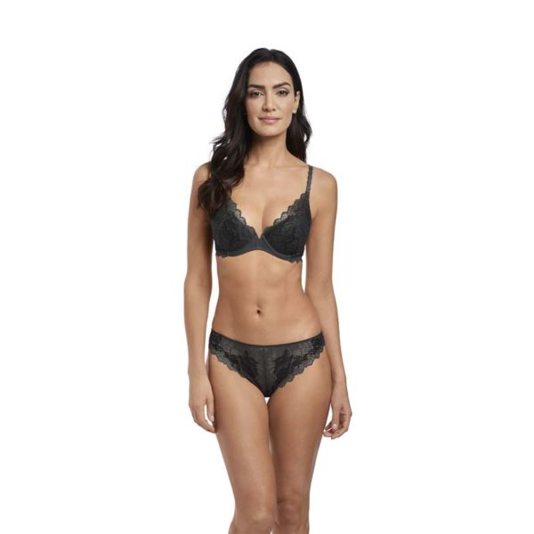 Charcoal - plunge push up and tanga