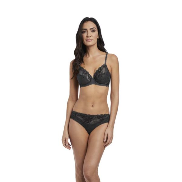 Lace Perfection - Average Wire Bra & Brief - charcoal