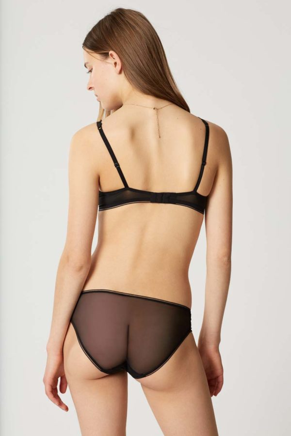 Sin - black - brief - rear