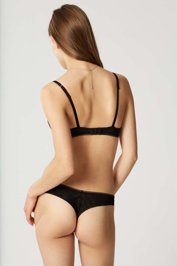 Sin - black - tanga - rear