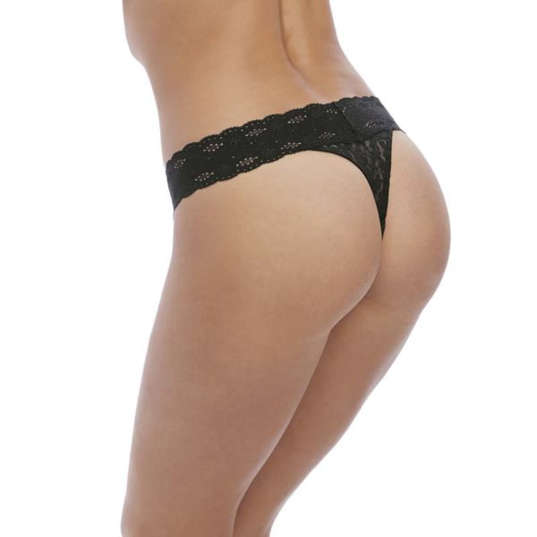 Halo Lace Thong - black