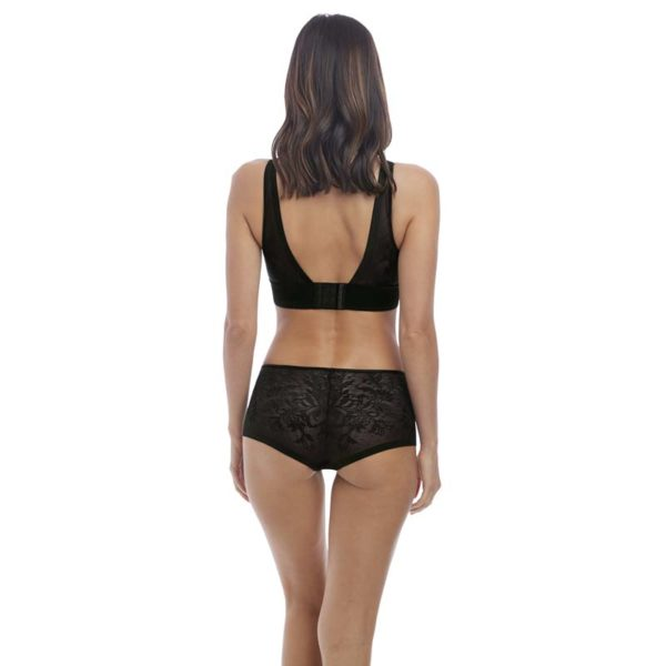 Net Effects - Black - Bralette - rear