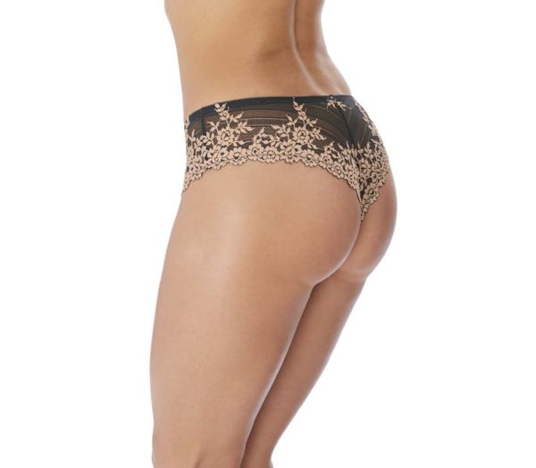 Emb Lace Ebony & Shifting Sand Tanga Rear