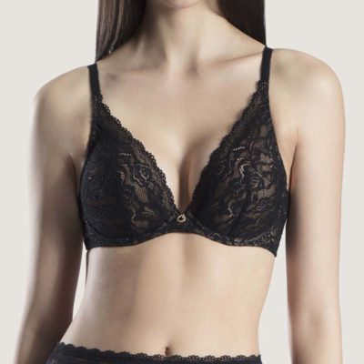 Rosessence Plunging Triangle Bra by Aubade