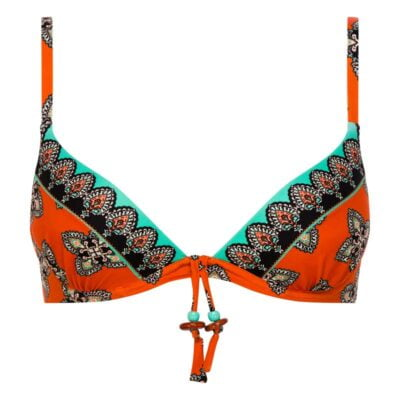Folk Push Up Bikini Top by Chantelle Swim