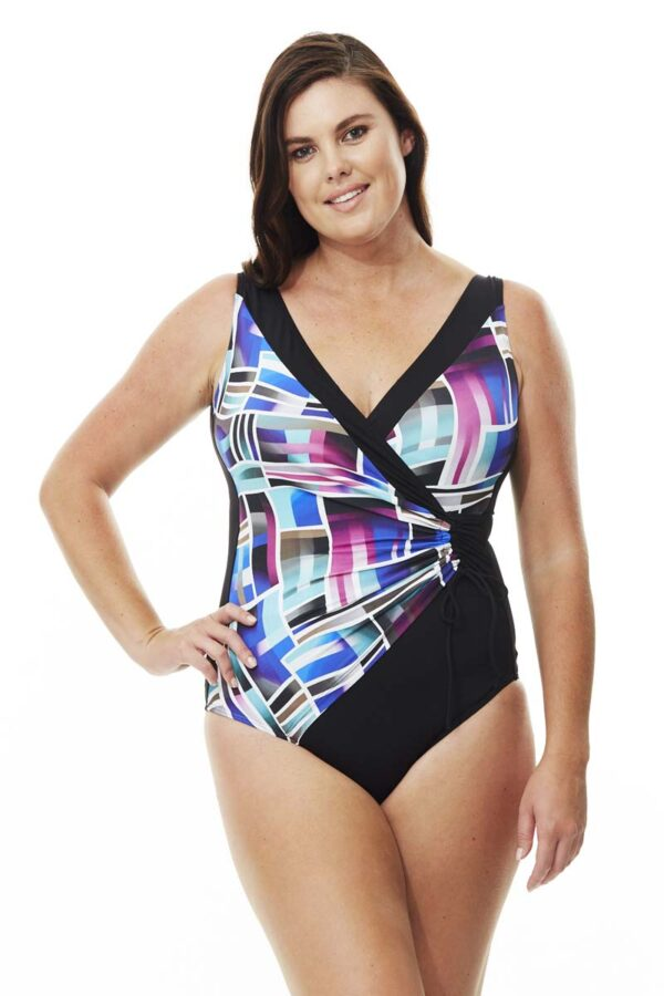 Frame Drawstring Swimsuit By Quayside Swim