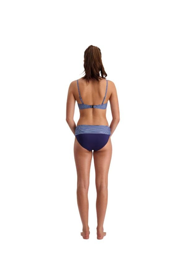 Ocean Stripes Twist Bandeau Top And Fold Down Pant By Quayside Swim Rear