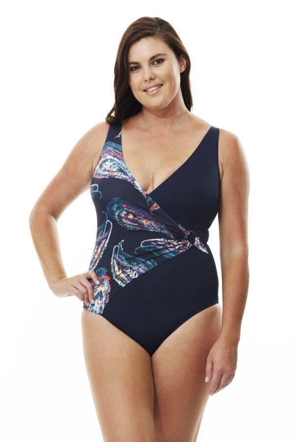 Paisley Ring Detail Swimsuit By Quayside Swim