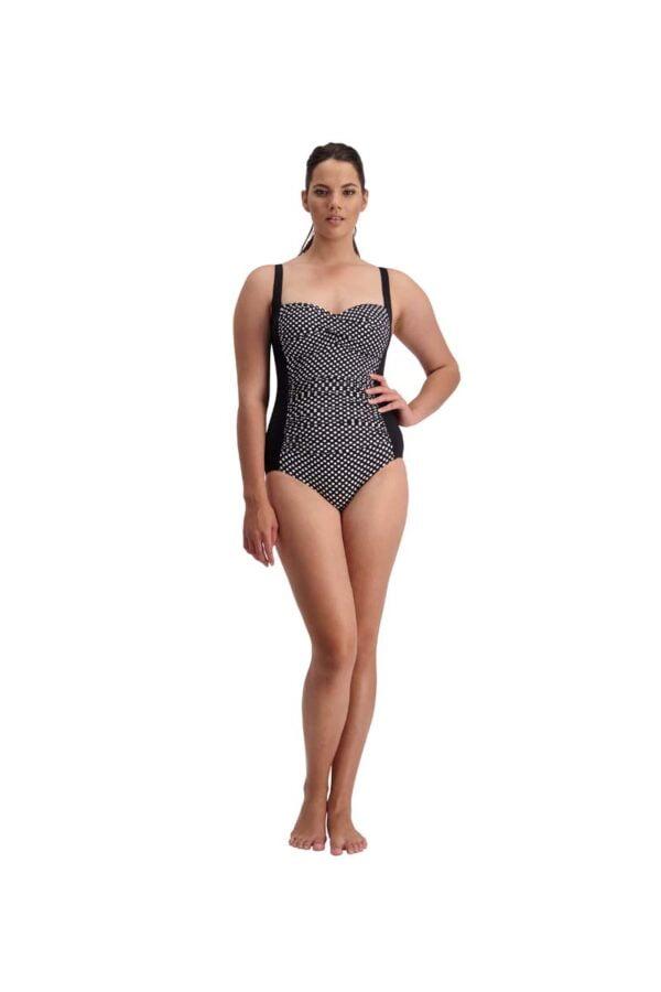 Polka Dot Twist Swimsuit By Quayside Swim
