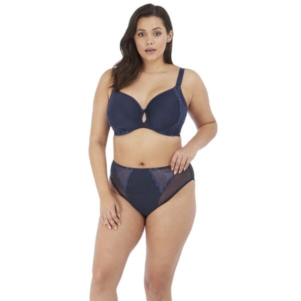 Elomi Charley Navy Uw Bandless Spacer Moulded Bra & High Leg Brief