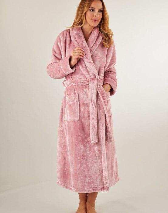 Slenderella Luxury Heavy Flannel Fleece Collar Wrap