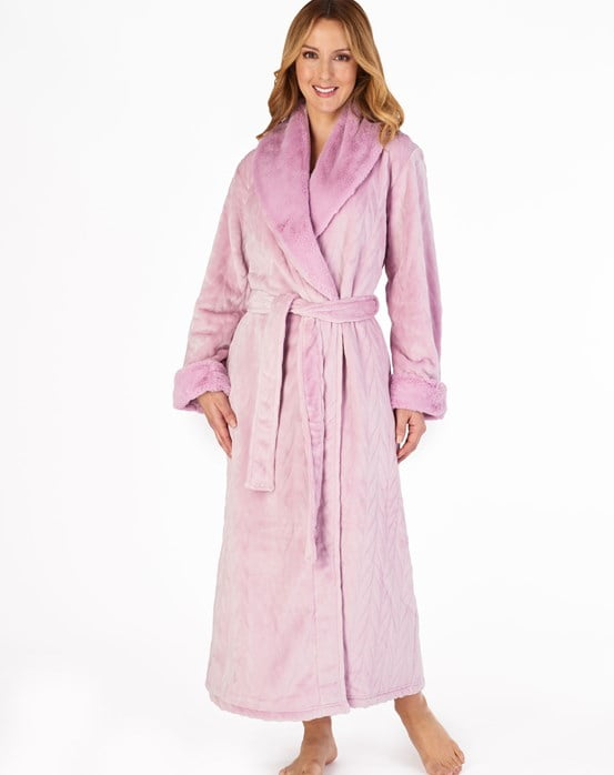 "Patterned Faux Fur Collar 52"" Long Sleeve Shawl Collar Wrap Light Pink"