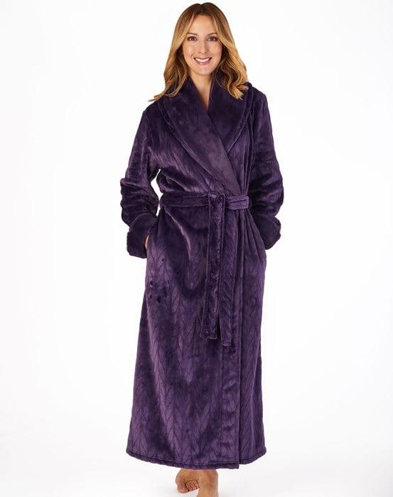 "Patterned Faux Fur Collar 52"" Long Sleeve Shawl Collar Wrap"