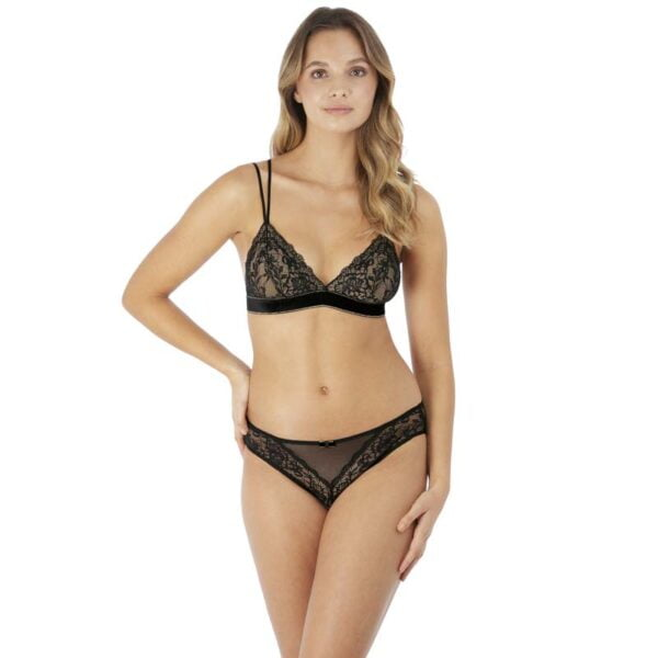 Lace Encounter Night Bralette & Bikini Brief