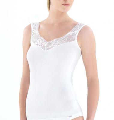 Lace Strap Vest by Blackspade