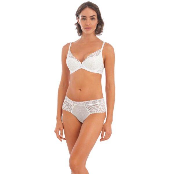 rafine white plunge bra