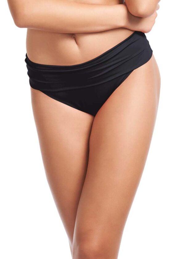 fs5757 blk primary fantasie swim versailles black classic fold bikini brief
