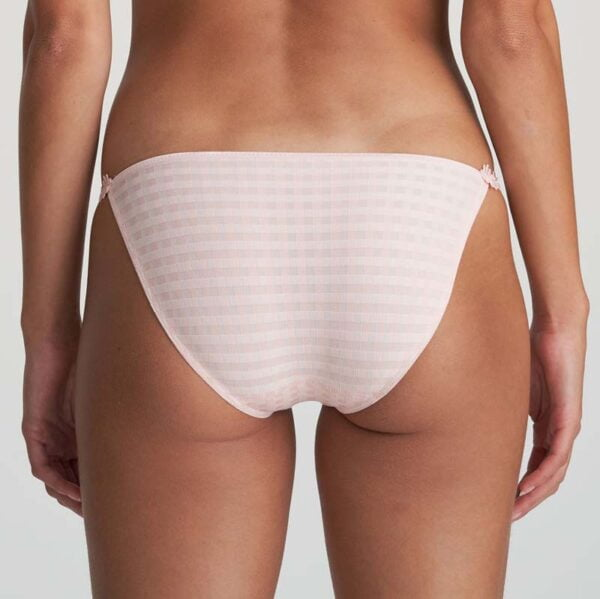 low waist brief pearly pink rear